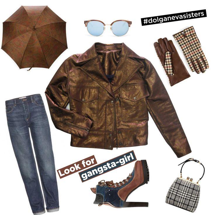 Куртка DOLGANEVA sisters на кнопках, из искусственной кожи, цвета бронзы  LOOK FOR GANGSTA-GIRL