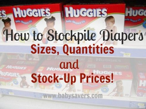 How to stockpile diapers: a beginner's guide to low diaper prices, how many of each diaper size to buy and how and where to store a diaper stockpile.