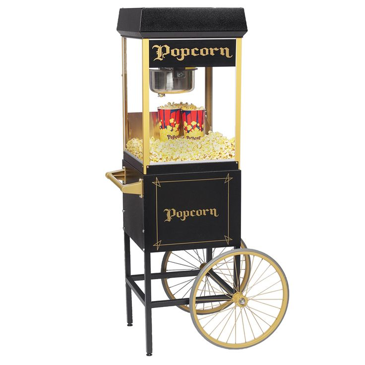 great looking stylish black and gold popcorn machine more information here http - Gold Medal Popcorn