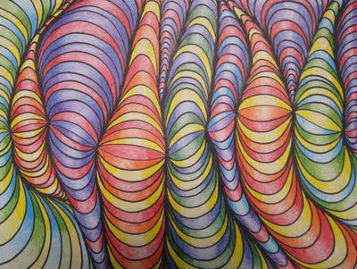 Great Back to School Idea - shading and 3D illusion for 4th or 5th Grade