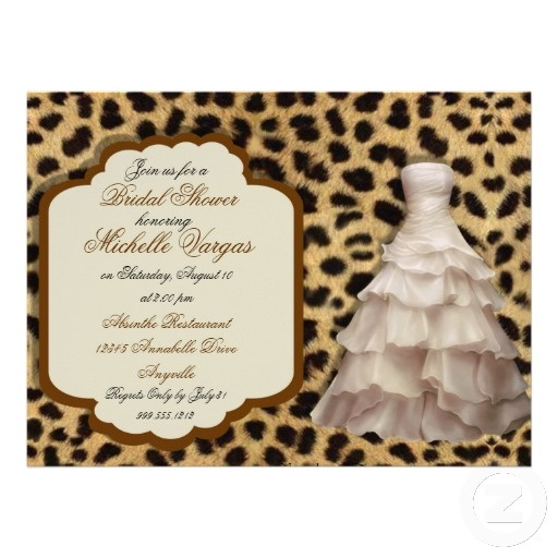 Custom Leopard Print Bridal Shower Invitations