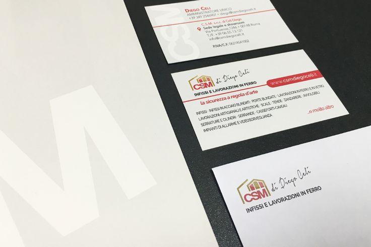 Creare e Comunicare | web agency Roma - Brand Identity CSM infissi Diego Celi | Comunicazione, marchio logo, linea grafica, brand identity, brand reputation, payoff