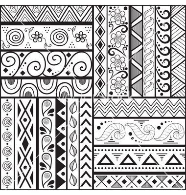 17 best images about muster tribal patterns on pinterest for Simple doodle designs with names