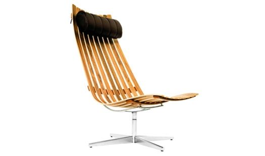 Classic Norwegian High-Back Easy Chair with Neck Cushion by Hans Brattrud: $2,457 #Chair #Hans_Brattrud