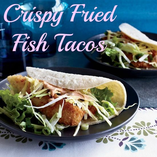 Crispy fried fish tacos from our galley