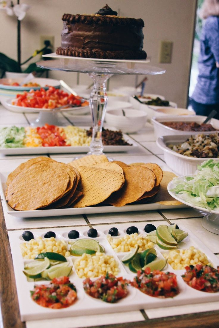 art themed baby shower for a boy, with taco salad bar!