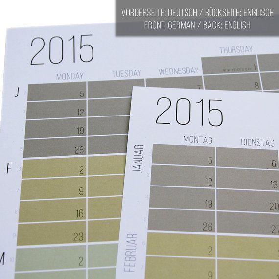 Die besten 25+ Wandkalender 2015 Ideen auf Pinterest Kalender - k chenkalender selbst gestalten
