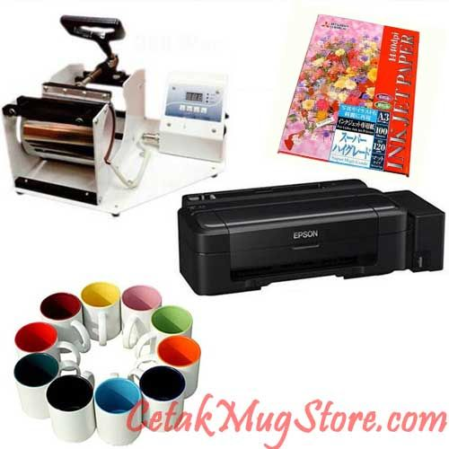 Tutorial Cara Cetak Mug Digital Sablon Printing