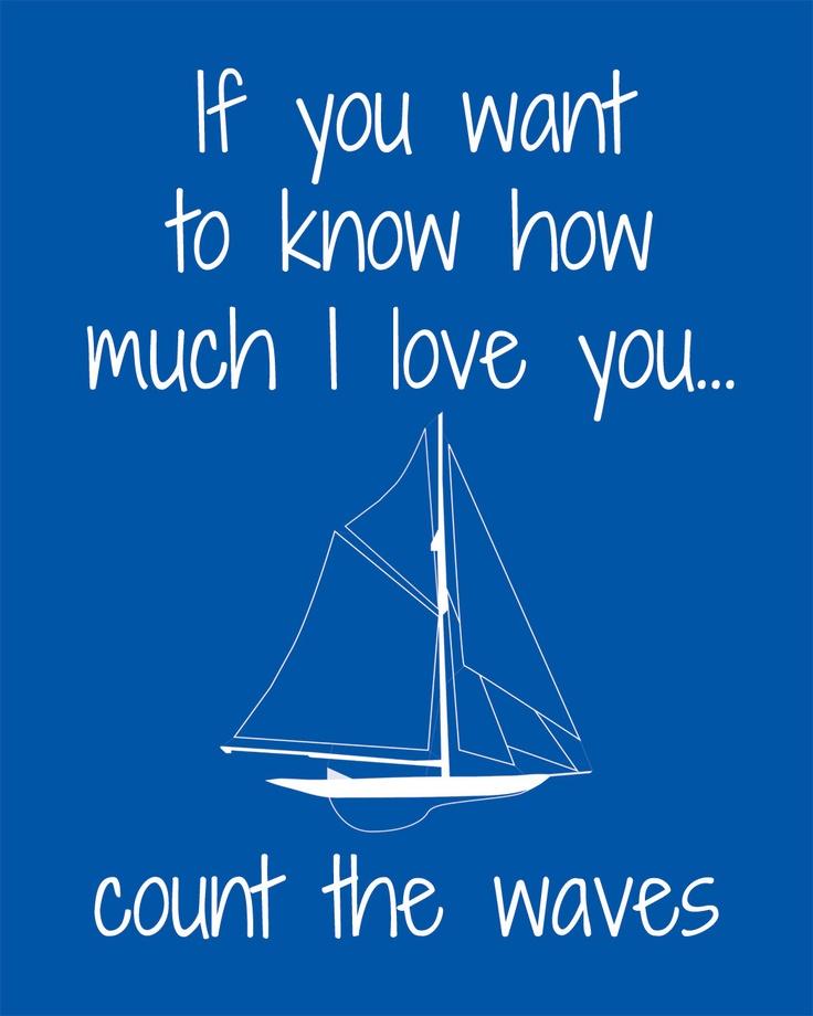 Nursery Nautical Art Digital Print-Count the Waves