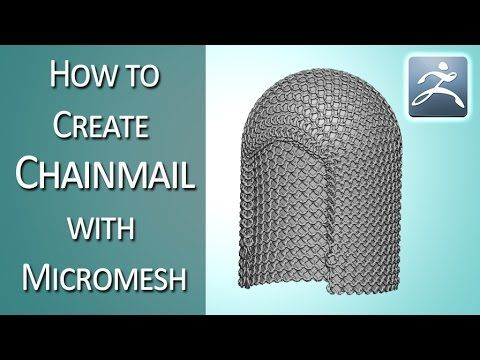 How to create chainmail with Micromesh; ZBrush tutorial - YouTube