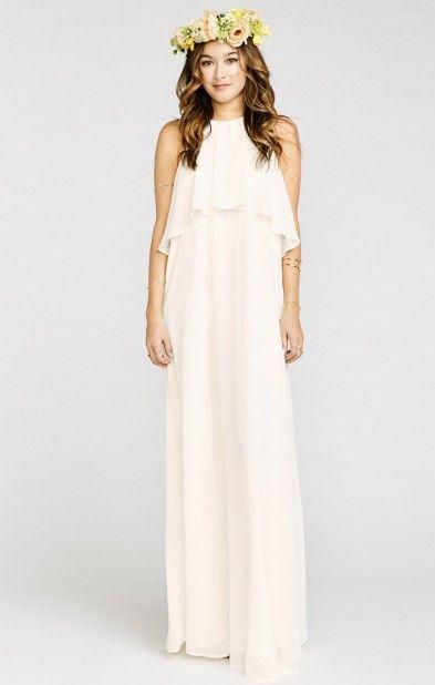 Aimee Ruffle Maxi Dress ~ Wedding Cake Chiffon | Show Me Your MuMu