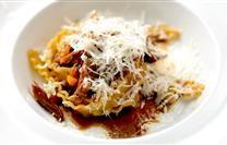 Gragnano Mafaldine Pasta dei Campi with Duck Confit