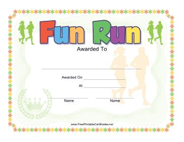 20 best 5k kids coaching images on pinterest certificate for Running certificates templates free