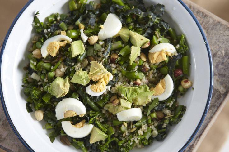 Raw kale salad. Head over to www.theorangepantry.com.au for the recipe.