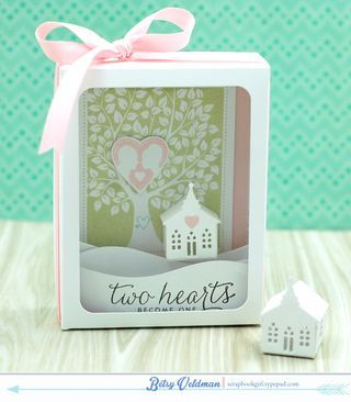 Love & Marriage Revisited: Two Hearts Shadow Box by Betsy Veldman for Papertrey Ink (April 2015)