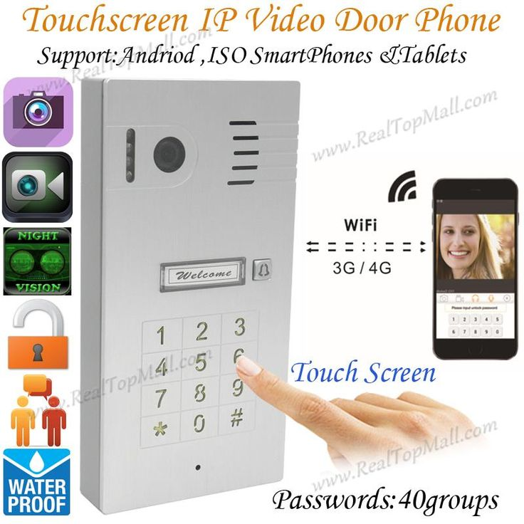 New Touchscreen  Wireless Wifi Video door phone doorbell IP Camera Intercom Support IOS Android for Smart Phone Tablet