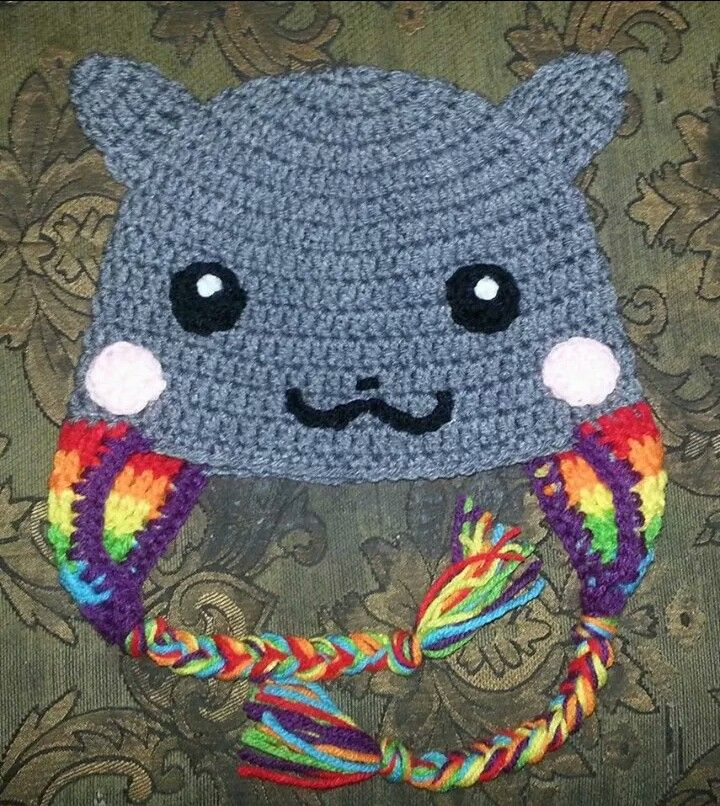 Nyan Cat Beanie Hat #TejidoCrochet