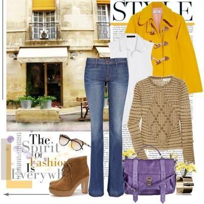 Желтое пальто с какой сумкой
