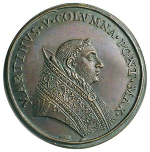 Artemide Aste - Asta XXVI: 1249 - Martino V (1417-1431) Medaglia di restituzione,coniata alla fine del XVII sec. - Dea Moneta