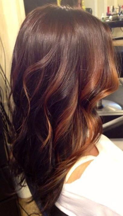 Warm chocolate brown with soft Caramel higlights // #hair #hairstyle #long_hair #brunette #wavy_hair