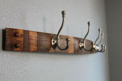 wine barrel stave rack