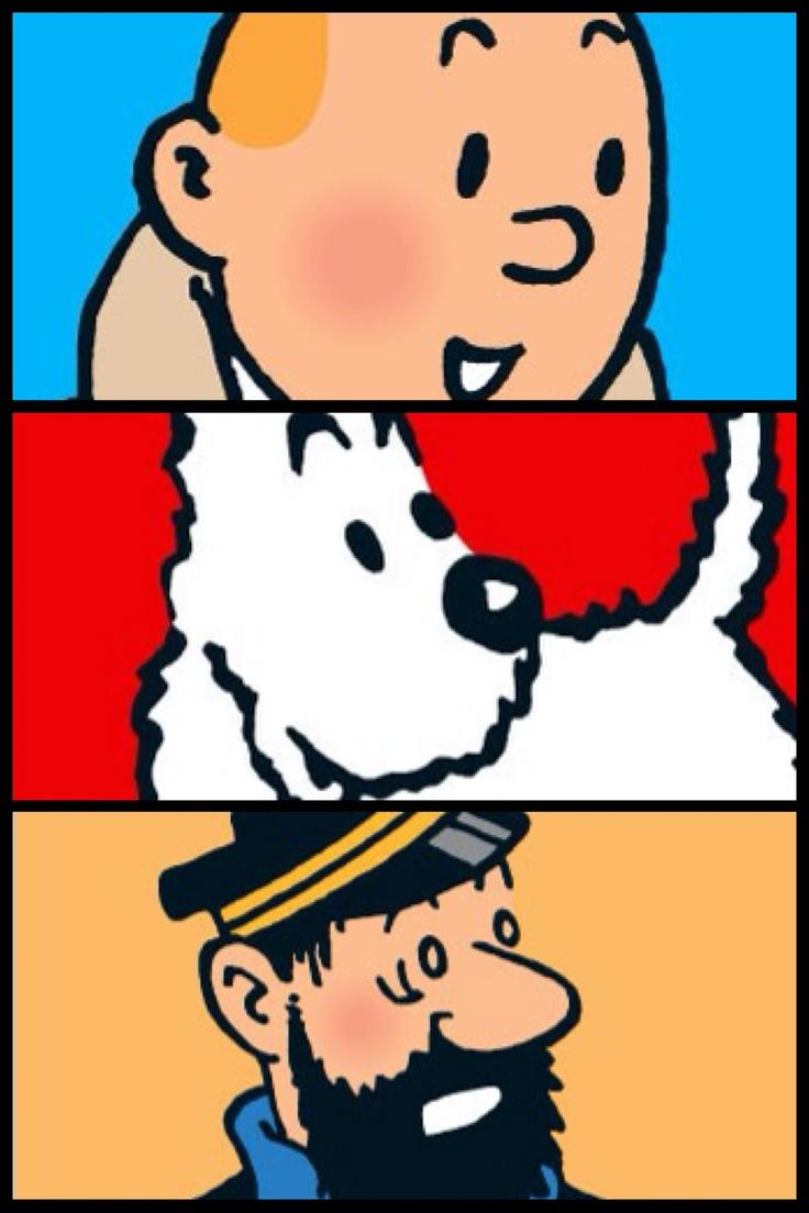 Tintin, Milou et Haddock. Ceci est le dessus d'un case pour objet électronique. J'en veux un!!!!