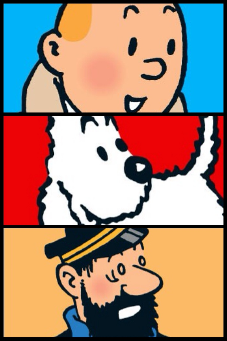 Tintin - Snowy - Capt Haddock/ Kuifje - Bobby - Kapitein Haddock #stripboek #comicbook