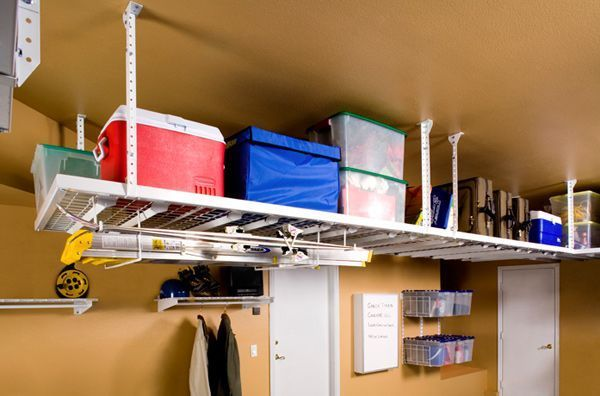 Ceiling Storage. The HyLoft ceiling storage unit is a popular storage and organization solution for homeowners who want to get more out of their garage space.