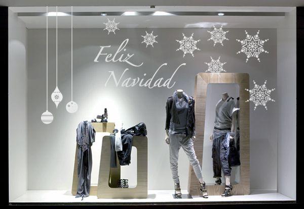Artículo sobre decoración con vinilos en los escaparates de navidad