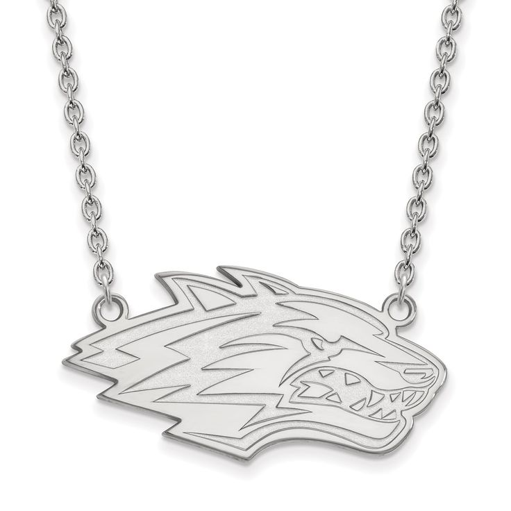 10 Karat Gold LogoArt University of New Mexico Pendant with Necklace