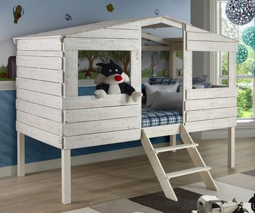 ★ Buy the Donco Trading Kids Twin Size Tree House Low Loft Bed in Rustic Sand Finish at Kids Furniture Warehouse ★ The 1380TLRS Club House Low Loft Bed features a beautiful Brushed Driftwood finish and solid wood construction.