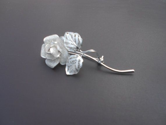 Lovely!! Thea Rose  Silver Filigree Brooch by BongeraFiligrana on Etsy, $120.00