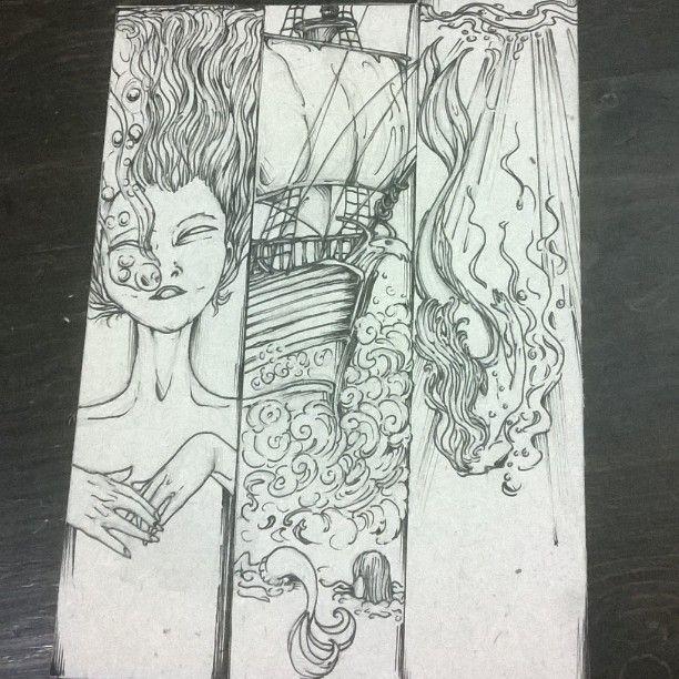 My bookmarks ready to cut #bookmarks #books  #book #comic #comics #pirateship #pirates #mermaid #mermaids #sea #stormyweather #underthesea #ink #pen #pencil ✏ #cardboard #illustrated #illustrations #illustration #illustrator #design #designed #designer  Designed by Natzz Bazante