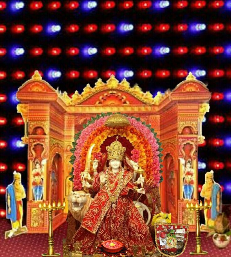 Navaratri durga lights decoration
