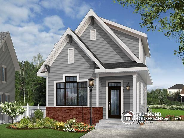 AFFORDABLE 2-3 BEDROOM WITH COUNTRY CHARM Country small and affordable starter home, 2 to 3 bedrooms, 9 foot ceiling, lots of natural lights(# 1908) http://www.drummondhouseplans.com/house-plan-detail/info/melia-country-1001170.html
