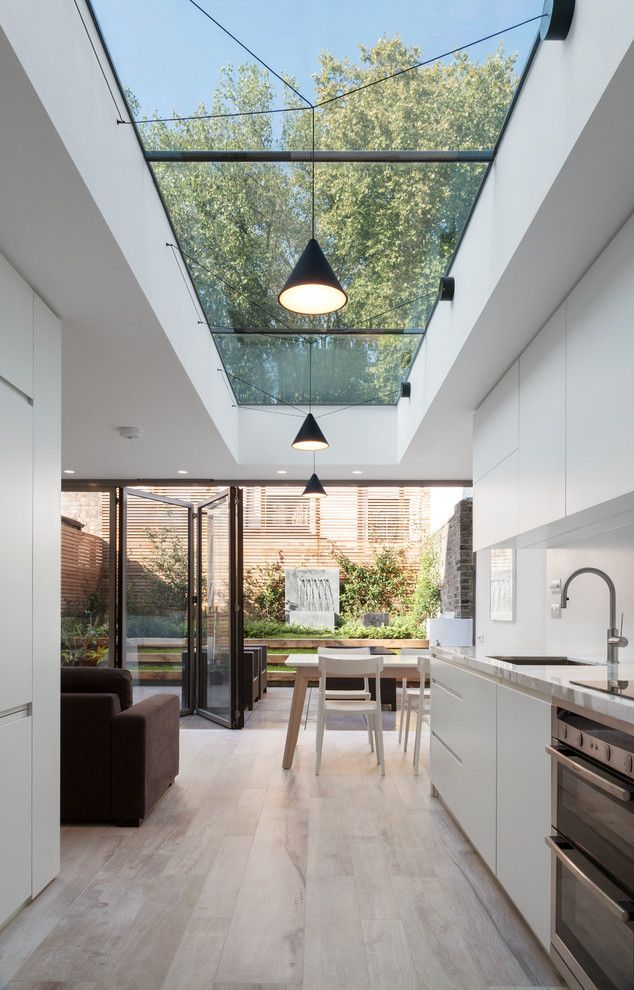 Extend The M With A Glass Section As Skylight Eaves Along