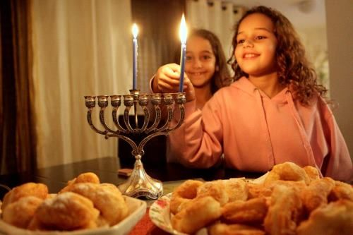 """Chanukah is the Jewish eight-day, wintertime """"festival of lights,"""" celebrated with a nightly menorah lighting, special prayers and fried foods. The Hebrew word Chanukah means """"dedication,"""" and is thus named because it celebrates the rededication of the Holy Temple (as you'll read below). Also spelled Hanukkah (or variations of that spelling), the Hebrew word is actually pronounced with a guttural, """"kh"""" sound, kha-nu-kah, not tcha-new-kah."""