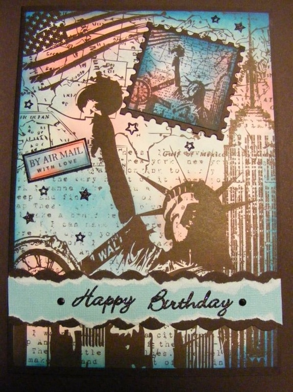 57 best Cards do craftspapermania images – New York Birthday Card