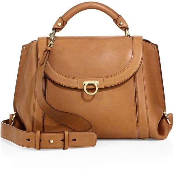 Salvatore Ferragamo Soft Sofia Medium Leather Top Handle Bag ($1,990) ❤ liked on Polyvore featuring bags, handbags, shoulder bags, leather shoulder bag, leather shoulder handbags, handbags shoulder bags, genuine leather shoulder bag and hand bags