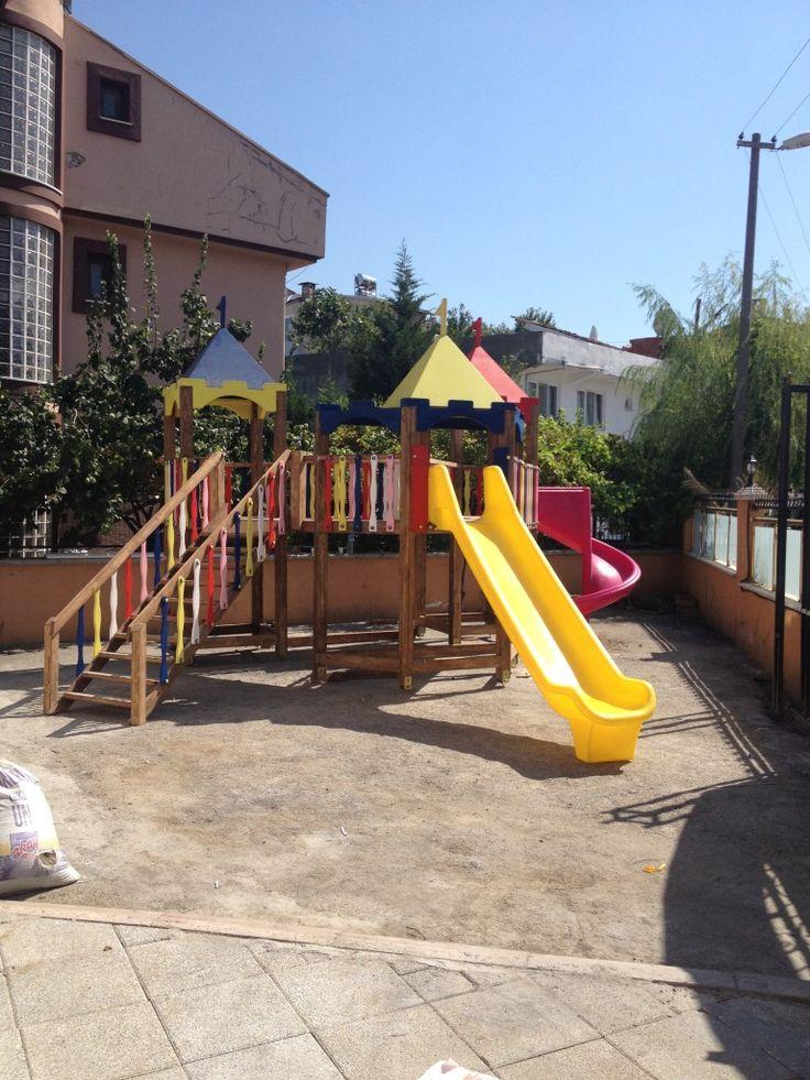 İki Kaydıraklı Büyük Oyun Parkı,Ay-Go, Ahşap Oyun Parkları,Ay Geliştirici Oyuncaklar - Bursa
