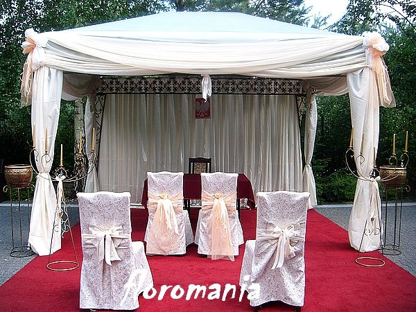 Ślubna dekoracja - Plener