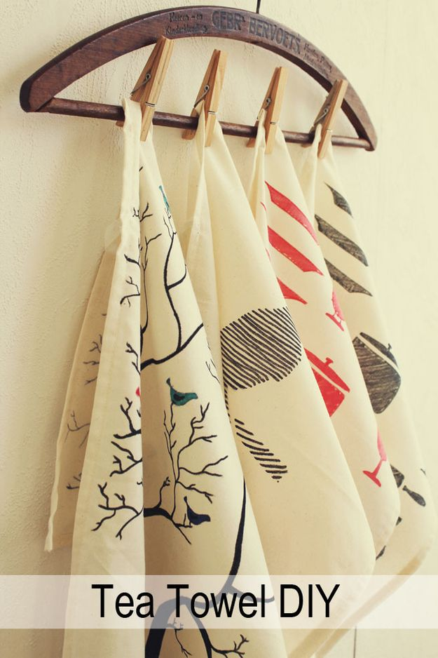 Decorated Tea Towels | 39 DIY Christmas Gifts You'd Actually Want To Receive