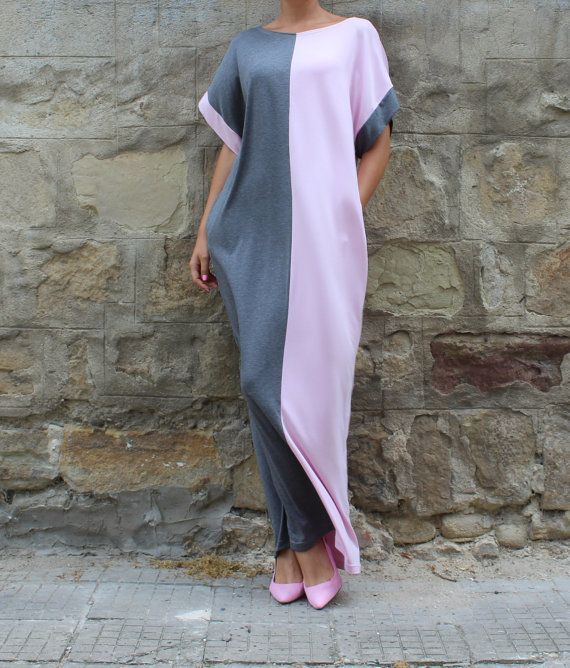 Gray Kaftan Kleid Maxi Kleid Kleid Abaya von cherryblossomsdress