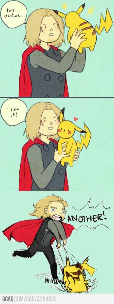 Thor meets Pikachu :)