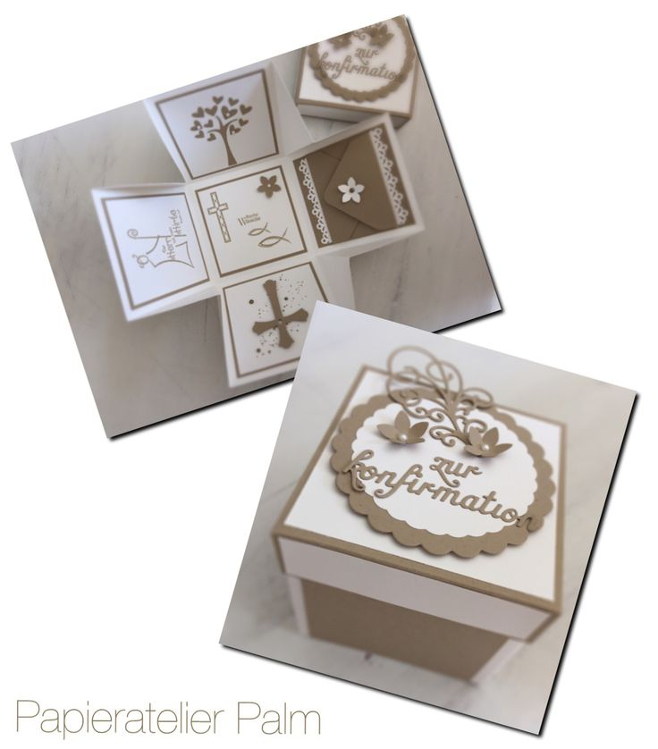 Stampin up Explosionsbox Konfirmation
