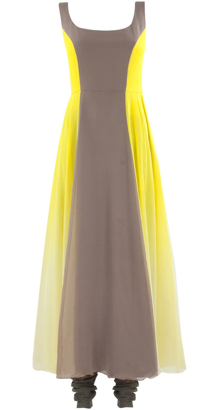 Shaded yellow and oyster coloured kurta set by MANISH MALHOTRA. Shop at https://www.perniaspopupshop.com/whats-new/manish-malhotra-5971