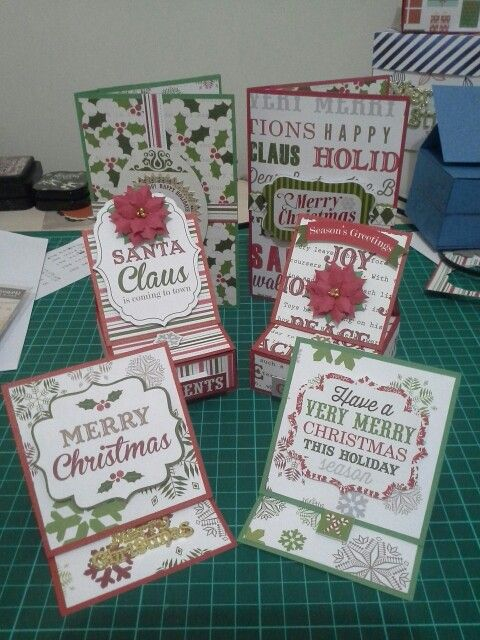 Christmas card set using echo park papers