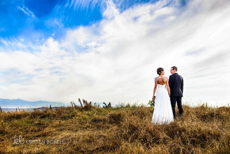 Back of Bride and groom by the ocean (Kristen Borelli Photography, Victoria Golf Club Wedding Photography, Victoria Wedding Photographer, Victoria Wedding Photography, Nanaimo Wedding Photographer, Nanaimo Wedding Photography, Vancouver Island Wedding Photographer, Vancouver Island Wedding Photography, Prince George Wedding Photographer, Prince George Wedding Photography)