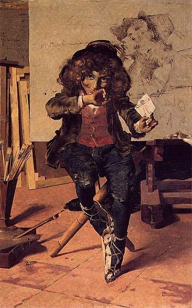 Esperando o sucesso (1882). Encontra-se no Museu Nacional Soares dos Reis no Porto