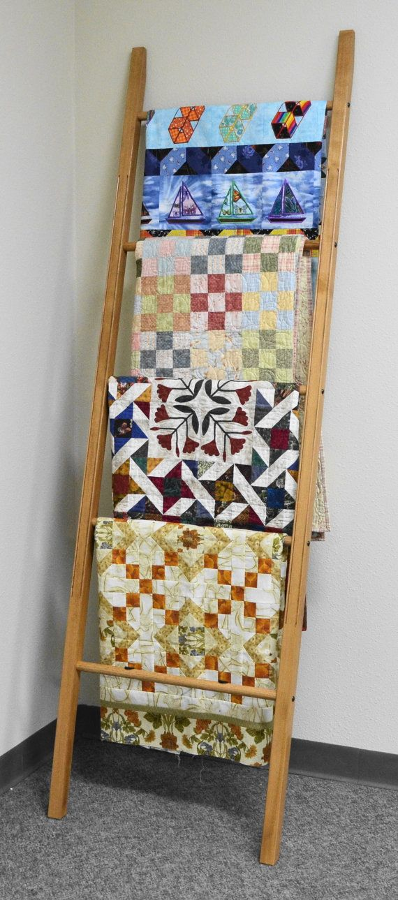 Quilt Ladder  Handmade Quilting Accessories  Wooden by pindinc, $168.99